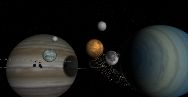 Gas Giants, Planets, & Moons