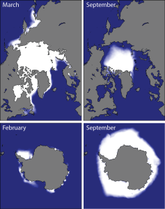 NSIDC mean sea ice extent