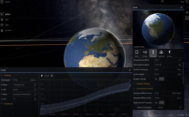Universe Sandbox ² - Climate and Graph 2