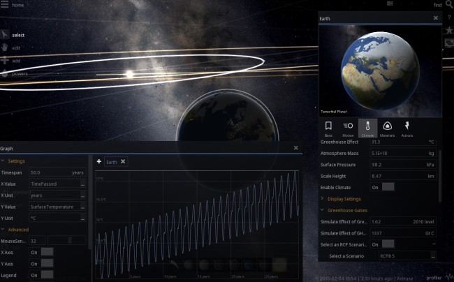 Universe Sandbox ² - Climate and Graph