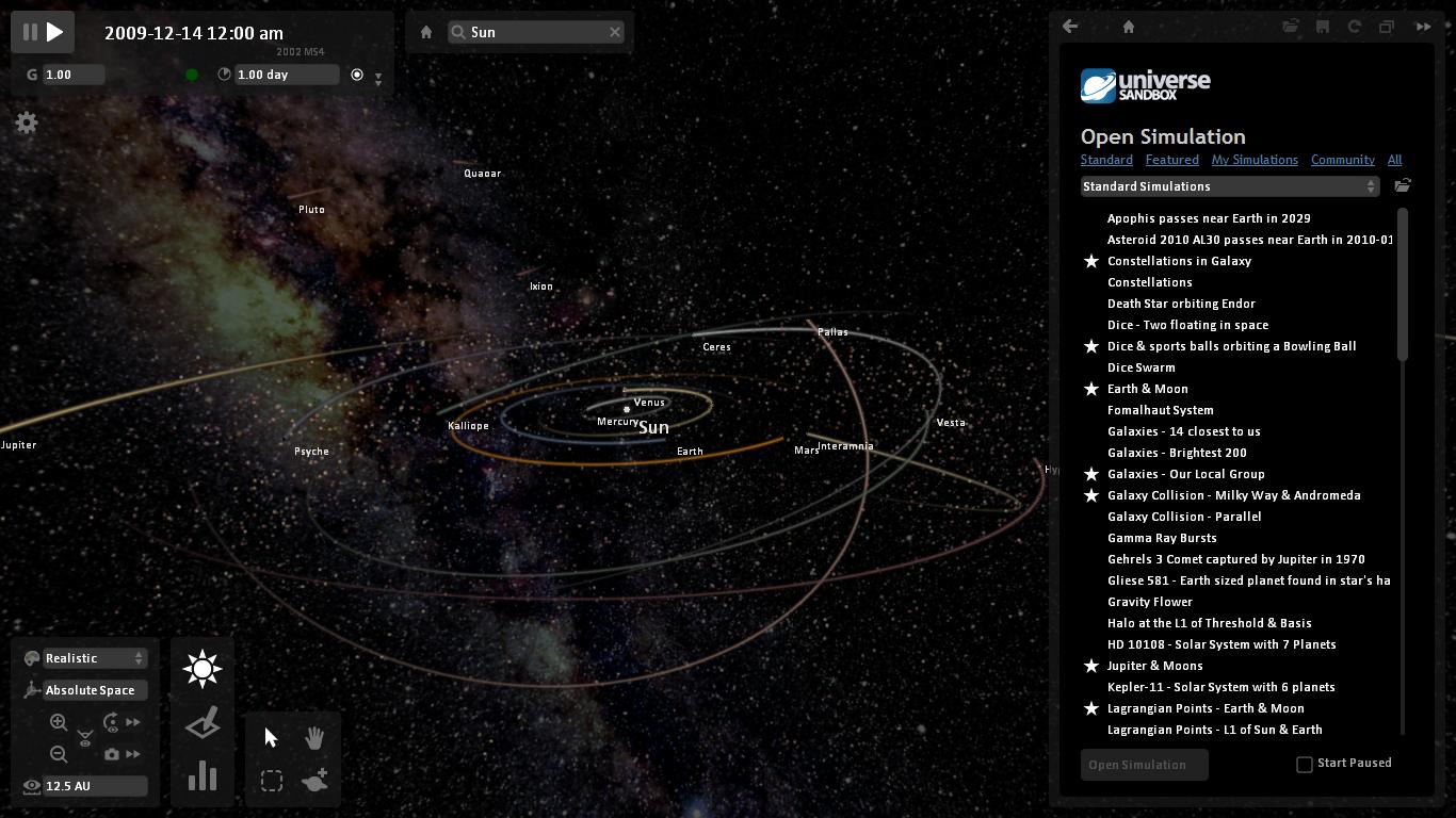 Universe Sandbox | compare