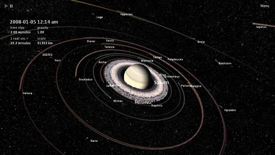 saturn moons and rings - photo #7